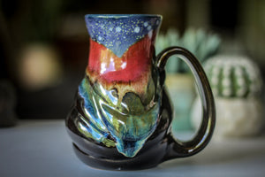 23-A Starry Night Variation Flared Textured Mug - ODDBALL, 18 oz. - 20% off
