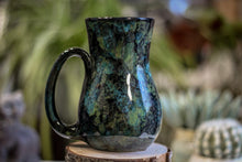 Load image into Gallery viewer, 22-B Moss Agate Flared Mug, 18 oz.