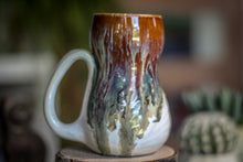 Load image into Gallery viewer, 04-A Electric Falls Textured Gourd Mug -  MISFIT, 16 oz. - 15% off