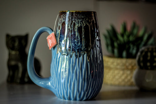 07-D New Wave Notched Textured Mug - ODDBALL, 28 oz. - 15% off
