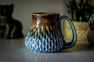 08-E Arctic Wave Barely Flared Textured Mug, 14 oz.