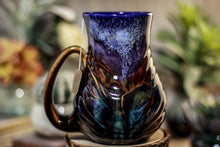 Load image into Gallery viewer, 23-A Starry Night Barely Flared Notched Mug - MISFIT, 18 oz. - 30% off