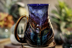 23-A Starry Night Barely Flared Notched Mug - MISFIT, 18 oz. - 30% off
