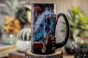 38-A Cosmic Grotto Textured Stein, 16 oz