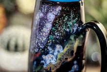 Load image into Gallery viewer, 44-A Cosmic Rainbow Notched Mug, 18 oz.