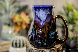 10-A Starry Night Barely Flared Textured Mug - MISFIT, 17 oz. - 25% off