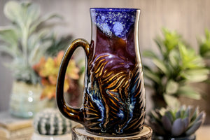 11-A Starry Night Barely Flared Textured Mug, 22 oz.
