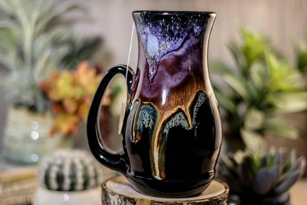 12-A Starry Night Barely Flared Notched Acorn Mug - TOP SHELF, 19 oz.
