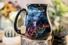 Load image into Gallery viewer, 42-B Chrysocolla Barely Flared Notched Mug, 18 oz.