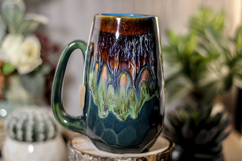 02-A  New Earth Notched Crystal Mug, 21 oz.