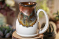 18-B Copper Agate Flared Notched Acorn Mug - TOP SHELF, 15 oz.