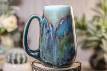 Load image into Gallery viewer, 16-B Blue Lagoon Crystal Mug - MINOR MISFIT, 19 oz. - 10% off