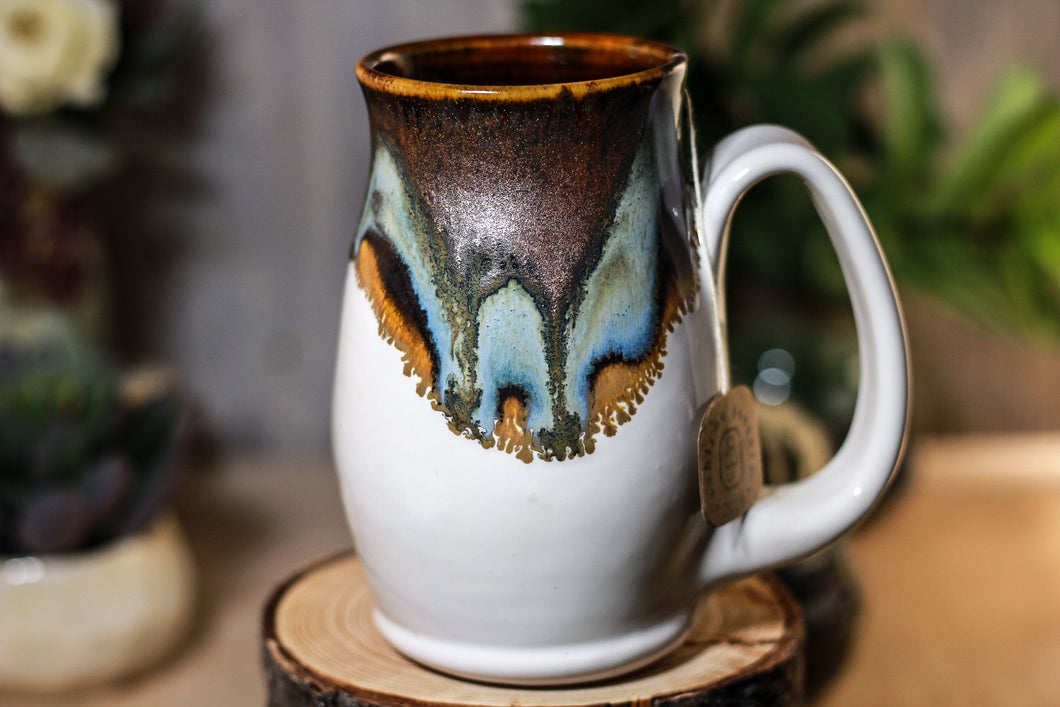 05-B Copper Agate Barely Flared Notched Mug - ODDBALL, 15 oz. - 10% off