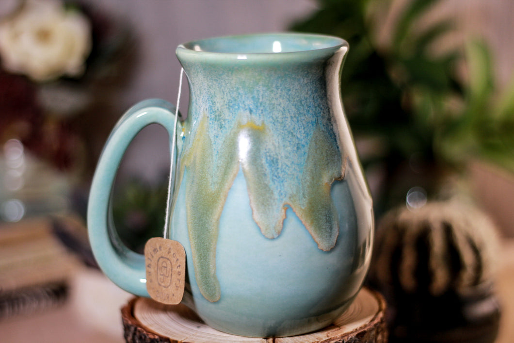 25-E Atlantean Jade Barely Flared Notched Mug, 15 oz