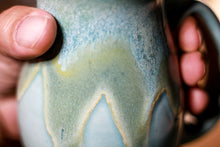 Load image into Gallery viewer, 25-E Atlantean Jade Barely Flared Notched Mug, 15 oz