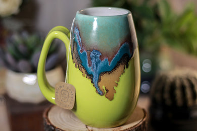 01-B Blue Lagoon Notched Mug - ODDBALL, 12 oz. - 15% off