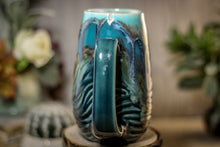 Load image into Gallery viewer, 28-B Blue Lagoon Textured Notched Mug - MISFIT, 19 oz. - 20% off
