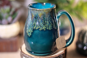 19-F Spanish Moss Notched Stein Mug,12 oz