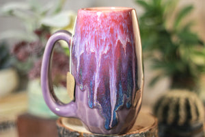 35-C Flaming Phoenix Notched Crystal Mug, 14 OZ.