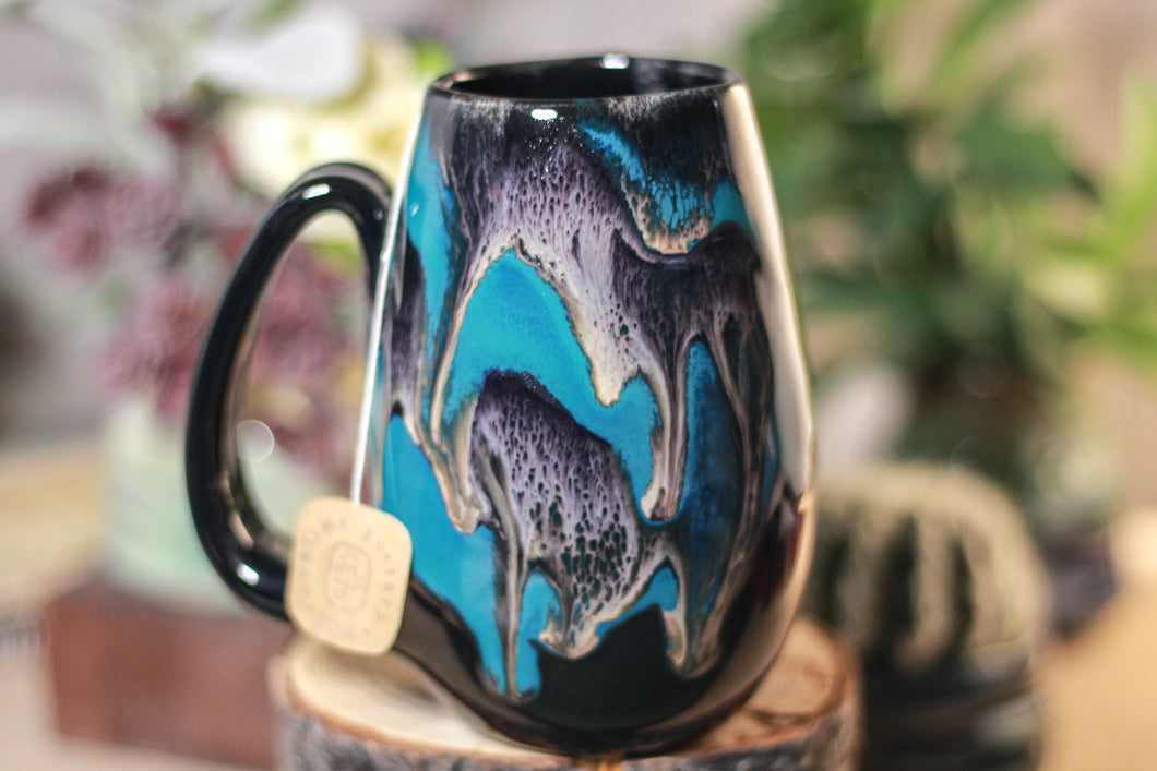 43-E Teal Grotto Notched Mug - TOP SHELF, 15 oz