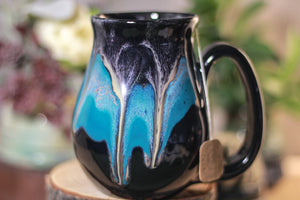 44-E Teal Cavern Barely Flared Notched Mug, 16 oz