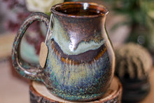 Load image into Gallery viewer, 06-B Copper Agate Notched Stein Mug, 13 oz.
