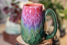 Load image into Gallery viewer, 34-B Flaming Phoenix Notched Crystal Mug - TOP SHELF, 13 OZ.