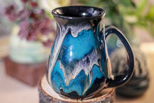 Load image into Gallery viewer, 44-E Teal Grotto Barely Flared Notched Mug - MISFIT, 14 oz - 10% off