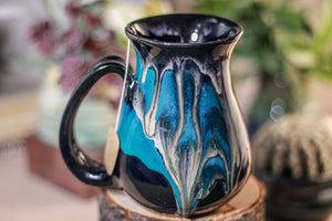 44-E Teal Grotto Barely Flared Notched Mug - MISFIT, 14 oz - 10% off