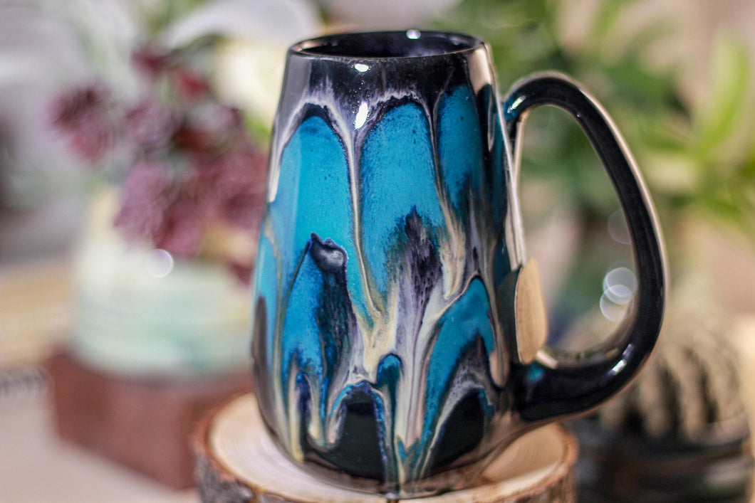 45-E Teal Grotto Notched Mug - MISFIT, 14 oz - 10% off