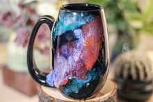 Load image into Gallery viewer, 47-A Rainbow Stellar Notched Mug, 13 oz