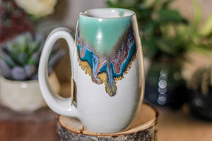 31-C Blue Lagoon Notched Mug, 12 oz.