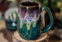 Load image into Gallery viewer, 06-D Electric Wave Notched Crystal Mug, 11 oz