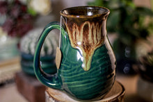 Load image into Gallery viewer, 26-C Molten Electric Falls Barely Flared Notched Mug, 13 oz.