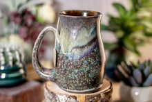 Load image into Gallery viewer, 31-B Copper Agate Barely Flared Notched Stein Mug - MISFIT, 15 oz. - 15% off