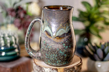 Load image into Gallery viewer, 32-B Copper Agate Barely Flared Notched Stein Mug - MISFIT, 15 oz. - 15% off