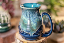 Load image into Gallery viewer, 37-E Boreal Bliss Barely Flared Notched Mug, 14 oz.