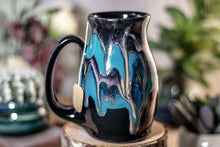 Load image into Gallery viewer, 47-E Teal Grotto Barely Flared Notched Mug, 15 oz