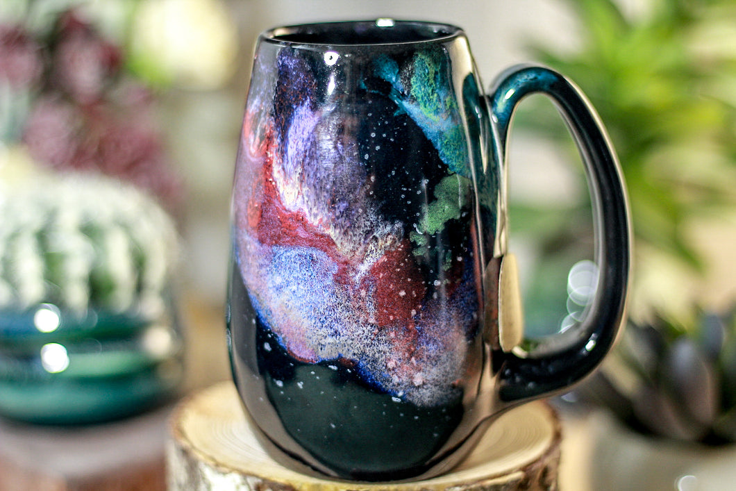 48-A Rainbow Stellar Notched Mug, 14 oz