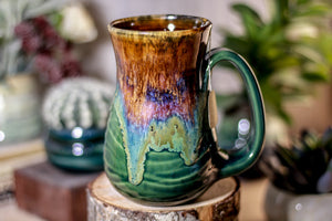 02-C Molten Electric Wave Flared Notched Textured Mug - MISFIT, 14 oz. - 15% off