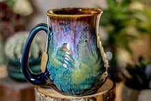 Load image into Gallery viewer, 04-C Electric Falls Barely Flared Notched Textured Mug, 13 oz.