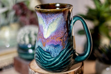 Load image into Gallery viewer, 05-B Electric Haze Barely Flared Notched Textured Mug, 14 oz.