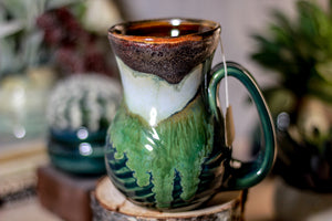 14-B Copper Agate Barely Flared Notched Textured Mug - ODDBALL, 14 oz. - 20% off