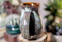 Load image into Gallery viewer, 15-B Copper Agate Barely Flared Notched Stein Mug - ODDBALL MISFIT, 15 oz. - 15% off