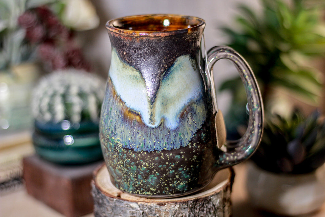 16-B Copper Agate Barely Flared Notched Stein Mug - ODDBALL MISFIT, 17 oz. - 15% off
