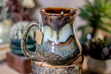 Load image into Gallery viewer, 17-B Copper Agate Barely Flared Notched Mug - ODDBALL MISFIT, 14 oz. - 15% off