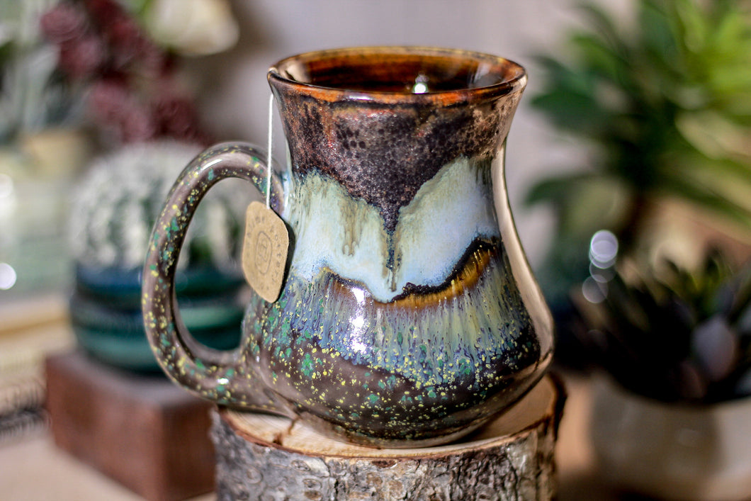 17-B Copper Agate Barely Flared Notched Mug - ODDBALL MISFIT, 14 oz. - 15% off