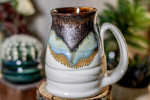 Load image into Gallery viewer, 19-B Copper Agate Notched Stein Mug - ODDBALL MISFIT, 15 oz. - 20% off