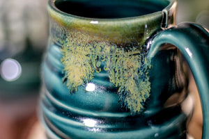 29-F Spanish Moss Notched Textured Stein Mug, 10 oz