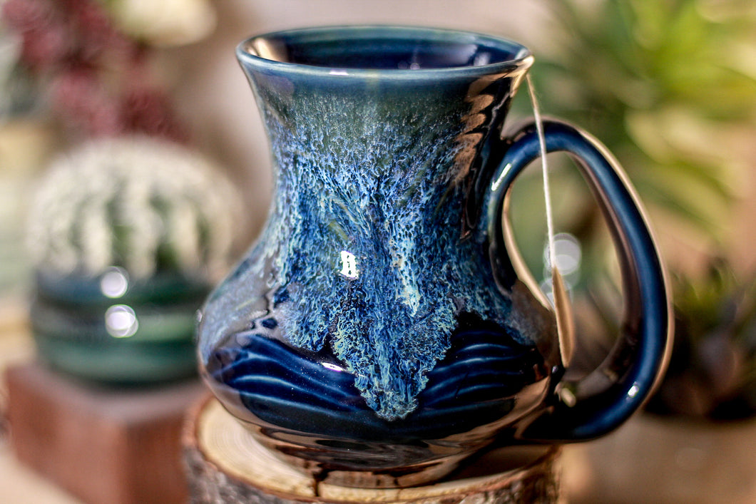 34-E Astral Wave Barely Flared Notched Textured Mug, 15 oz.